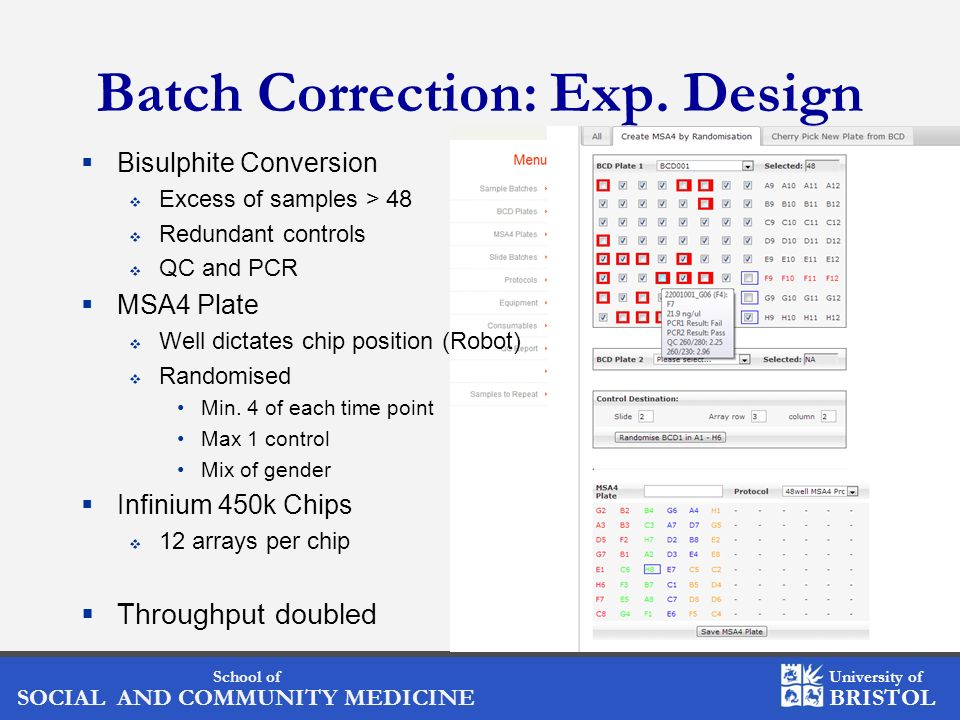 Batch Correction: Exp. Design