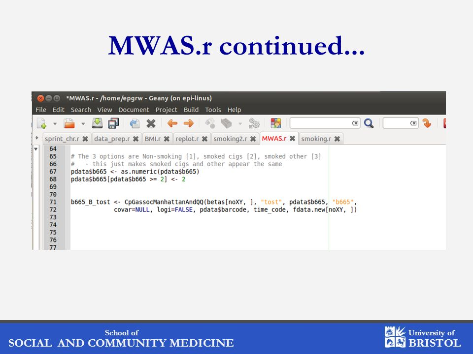 MWAS.r continued...