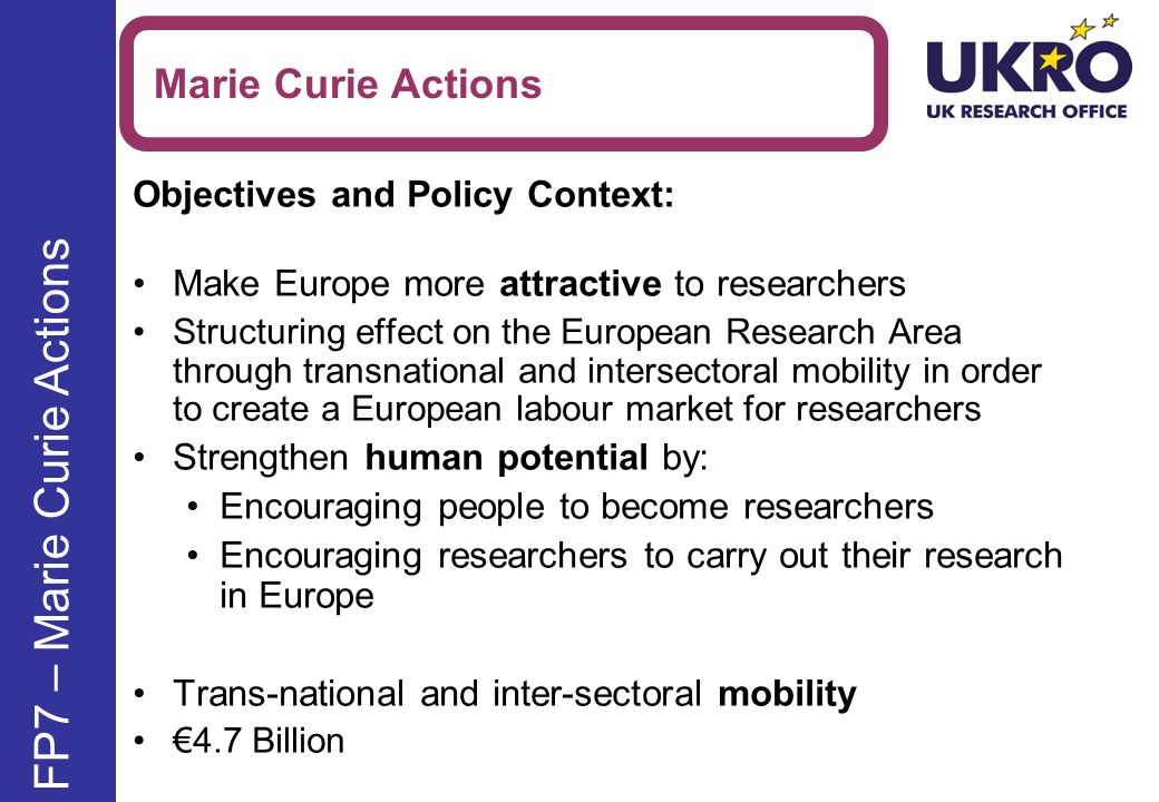 FP7 – Marie Curie Actions