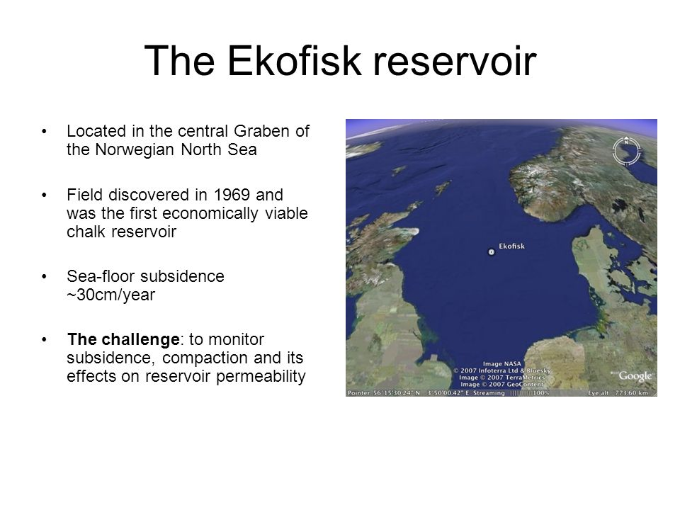 The Ekofisk reservoir Located in the central Graben of the Norwegian North Sea.
