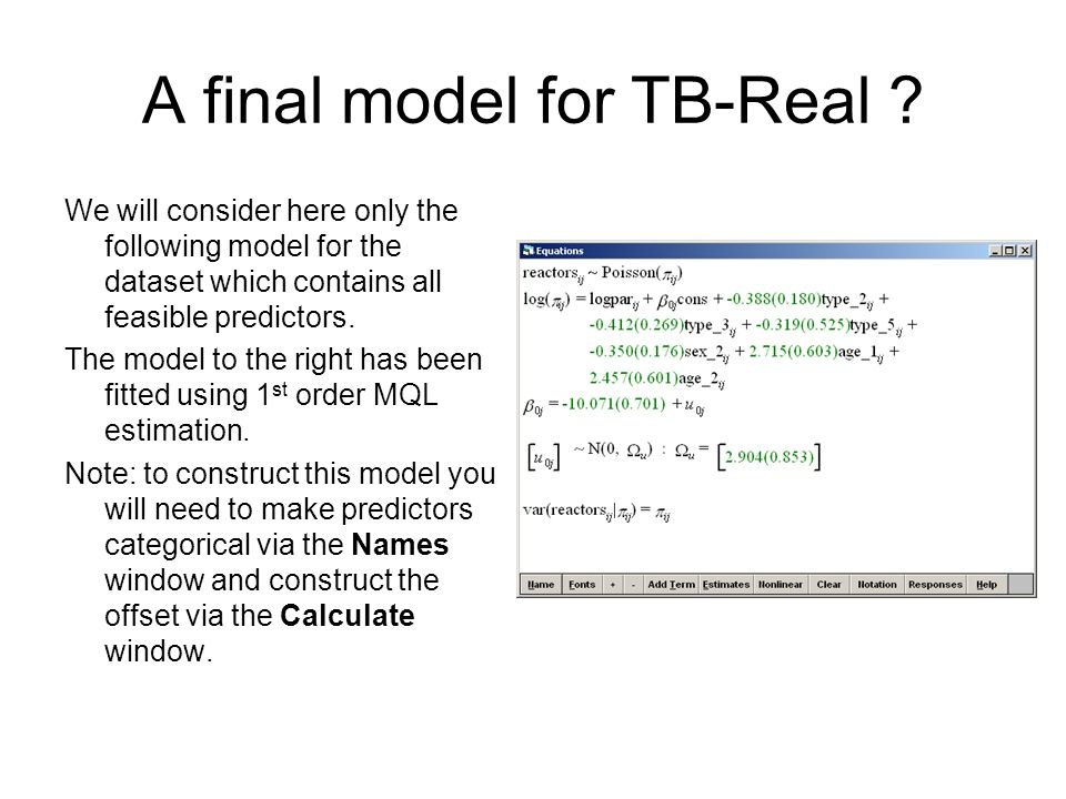 A final model for TB-Real