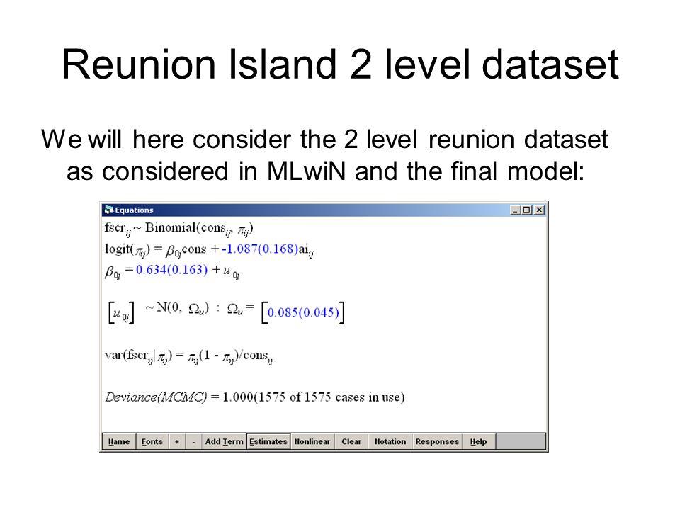 Reunion Island 2 level dataset