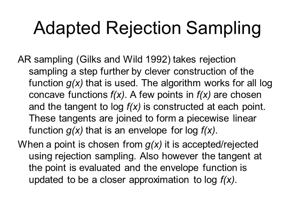 Adapted Rejection Sampling