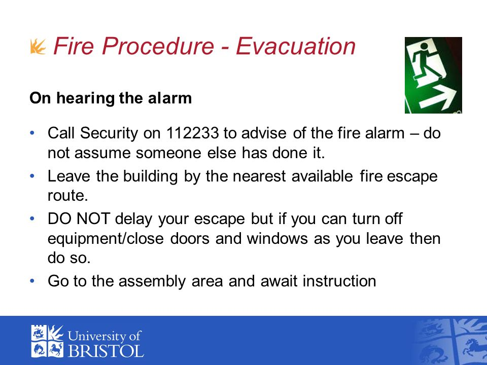 Fire Procedure - Evacuation