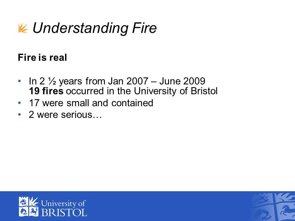 Understanding Fire Fire is real