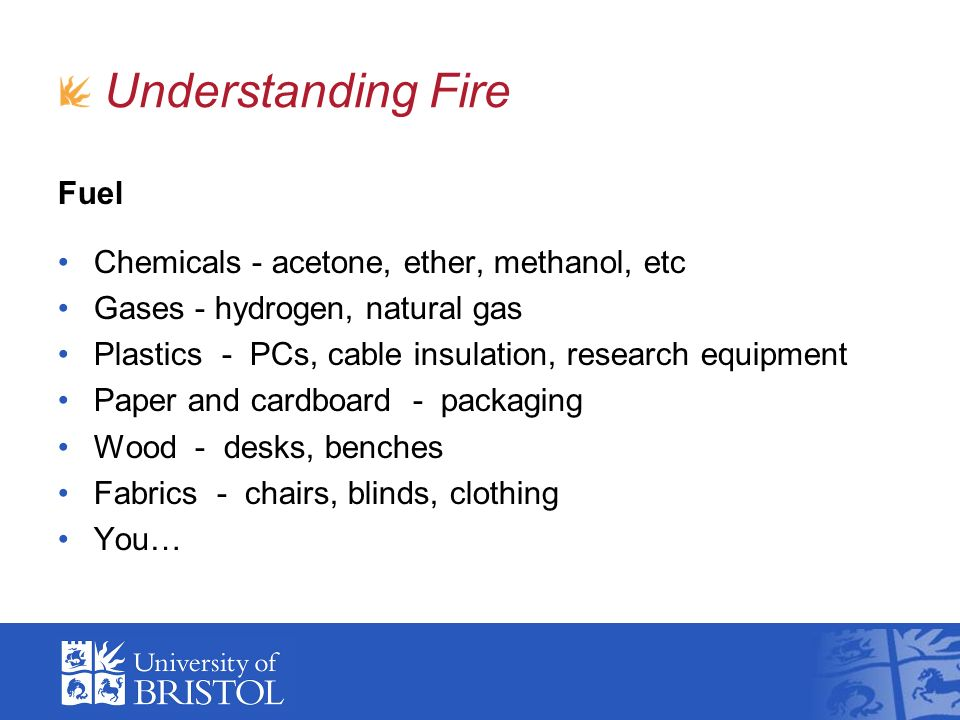 Fire Safety, Department of Physics
