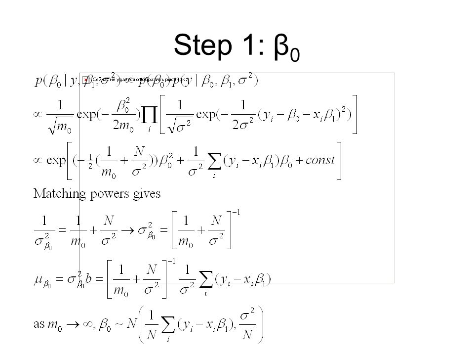 Step 1: β0