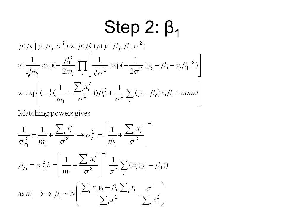Step 2: β1