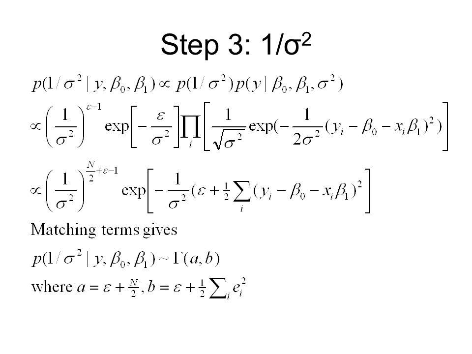 Step 3: 1/σ2