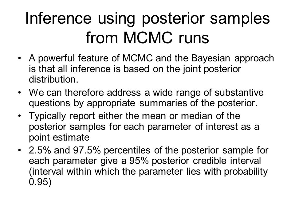 Inference using posterior samples from MCMC runs