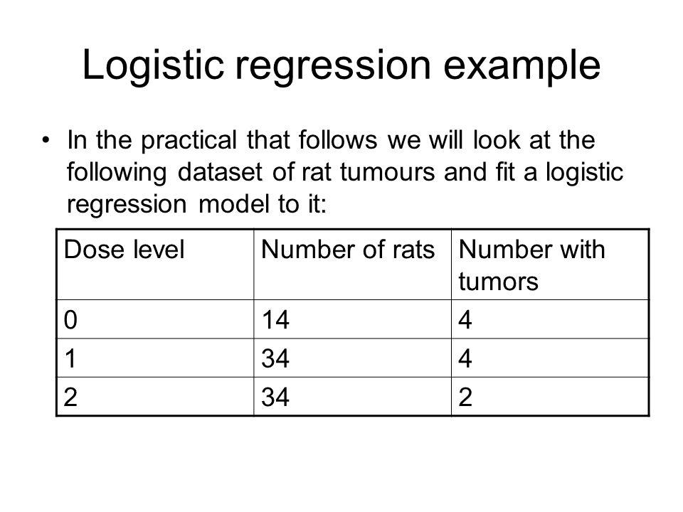 Logistic regression example