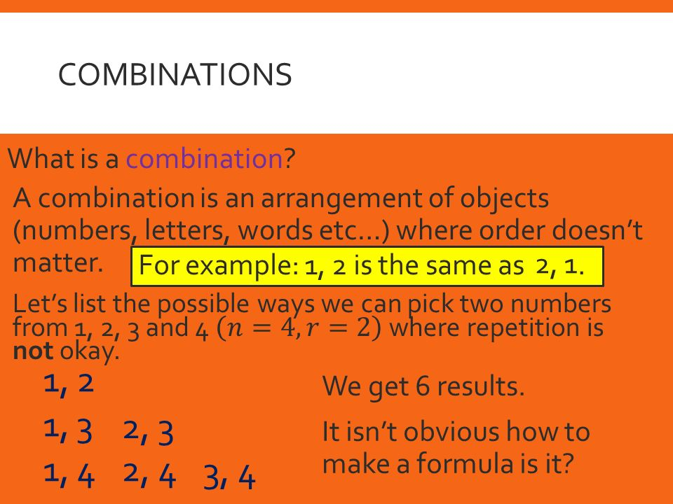 An Introduction To Combinations