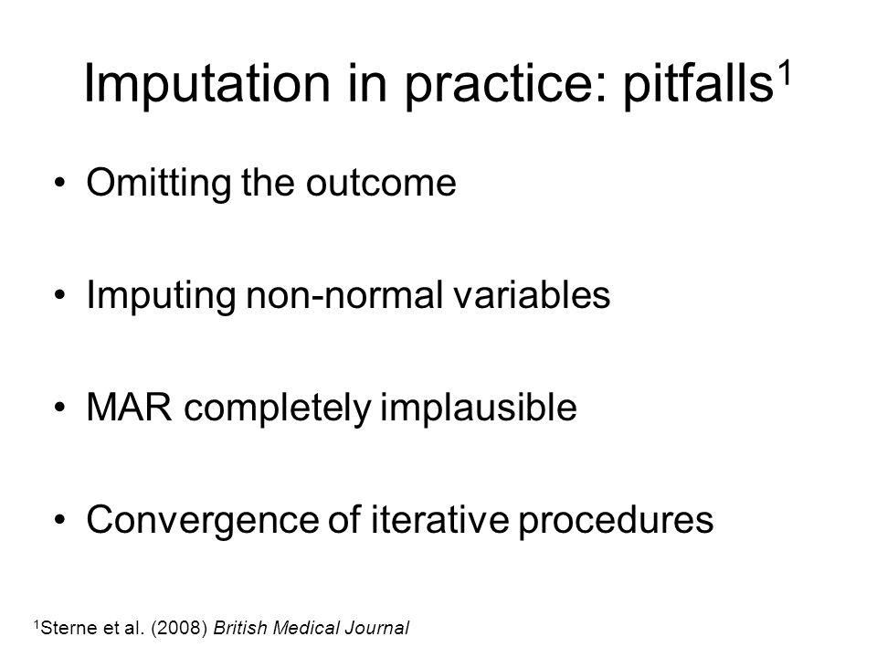 Imputation in practice: pitfalls1