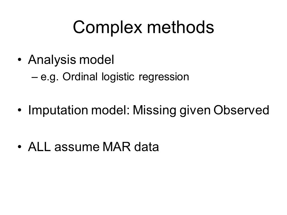 Complex methods Analysis model