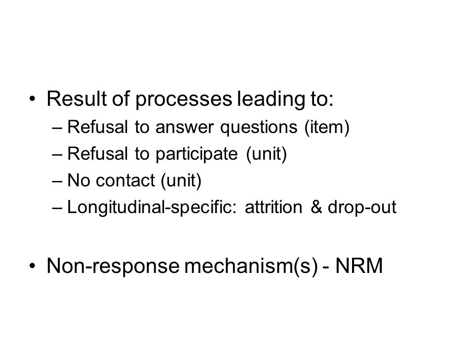 Result of processes leading to: