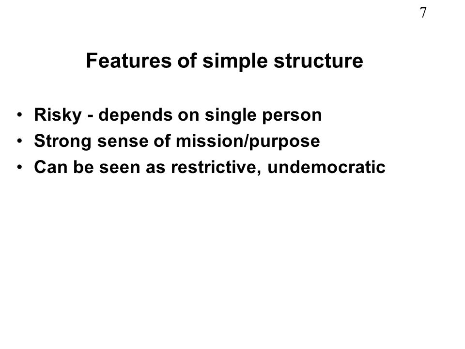 Features of simple structure