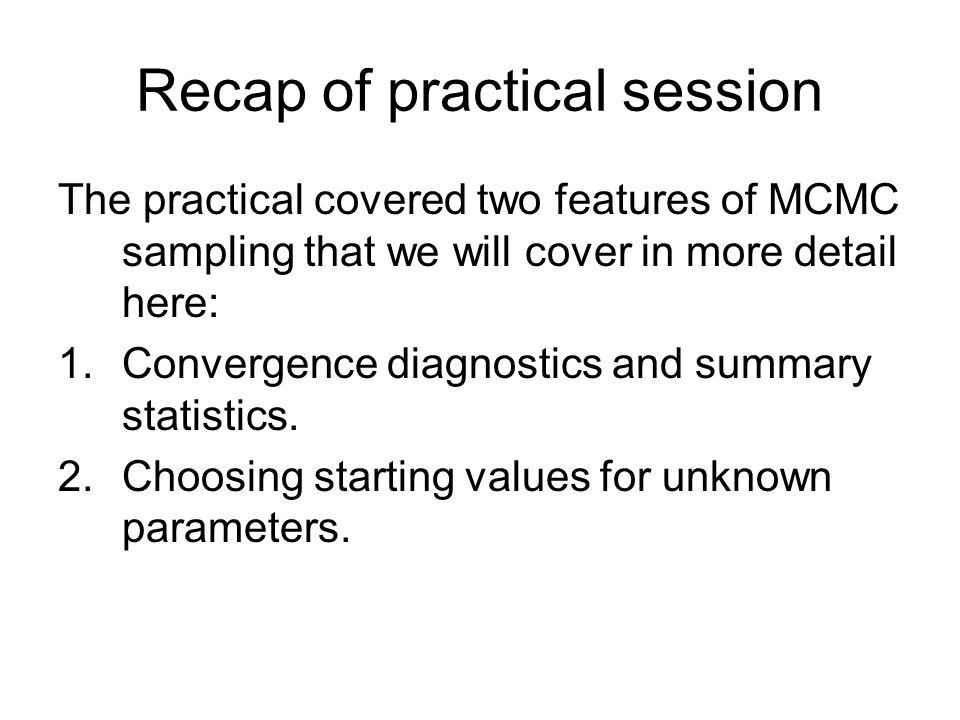 Recap of practical session