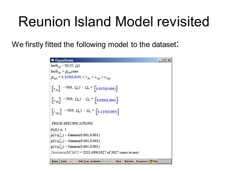 Reunion Island Model revisited