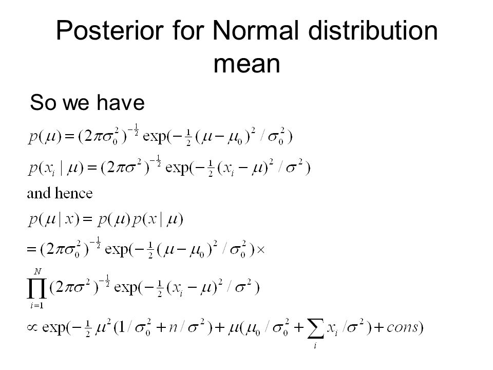 Posterior for Normal distribution mean