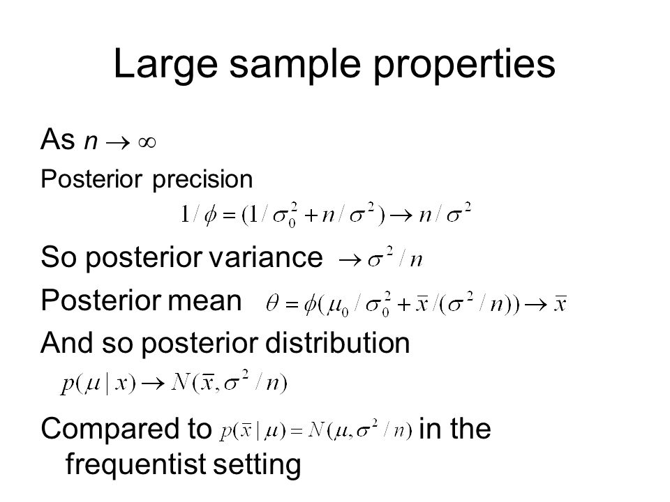 Large sample properties