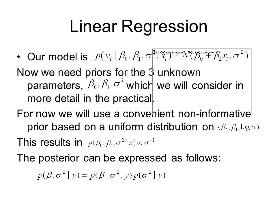 Linear Regression Our model is