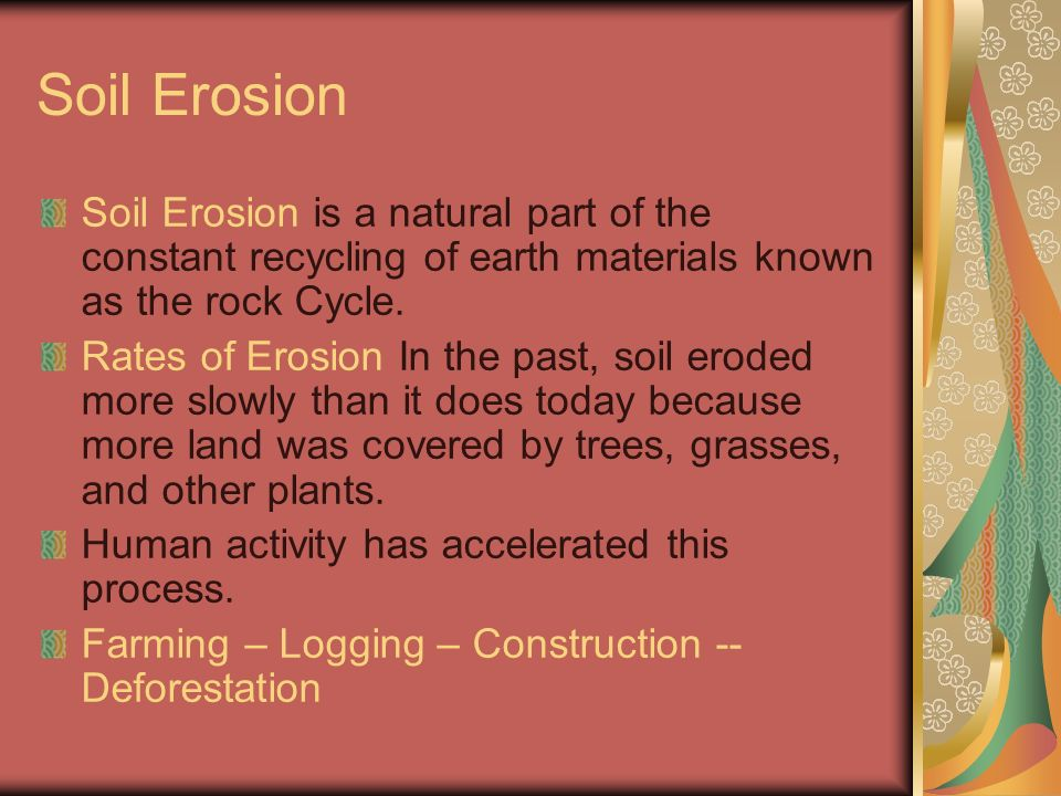 An important product of weathering ppt video online for Soil in sentence