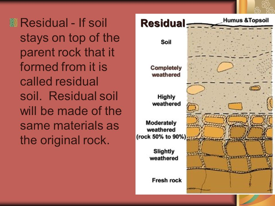 An important product of weathering ppt video online for What is dirt composed of