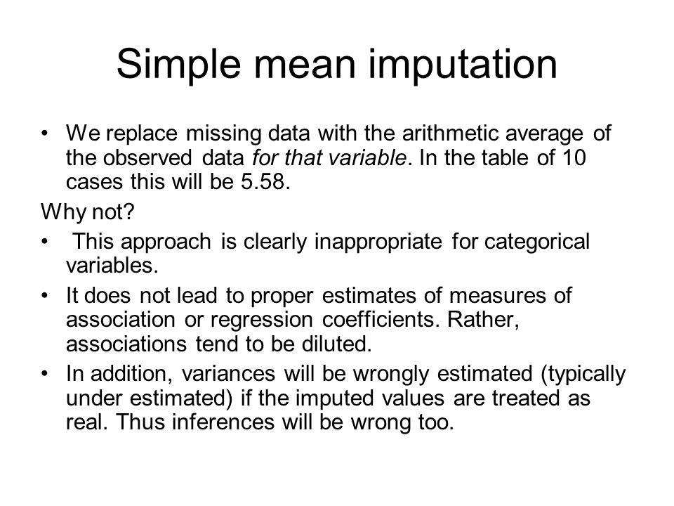 Simple mean imputation