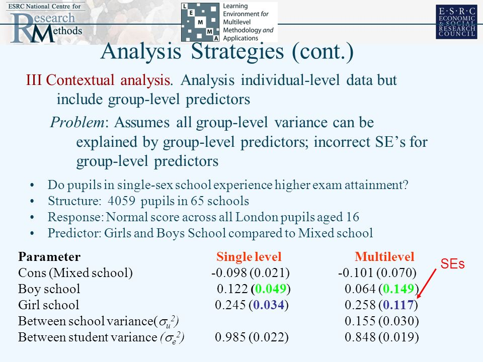 Analysis Strategies (cont.)