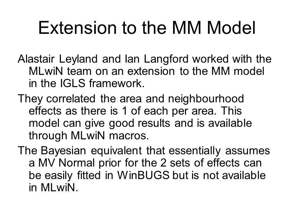 Extension to the MM Model