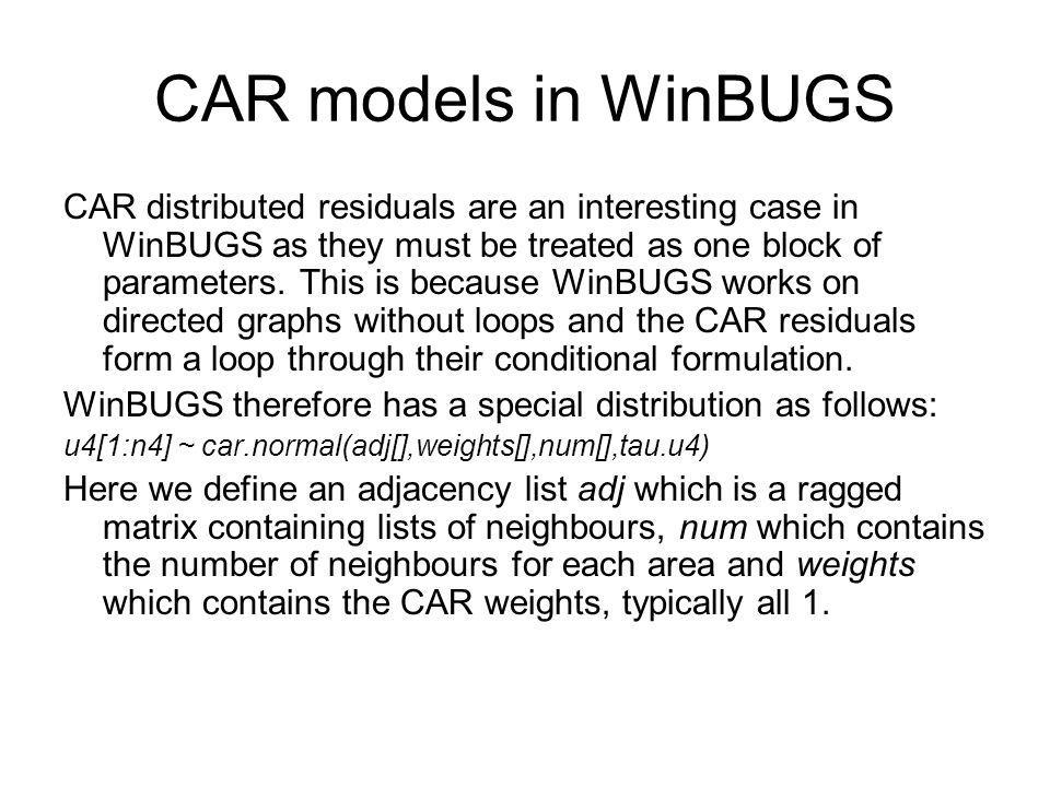 CAR models in WinBUGS