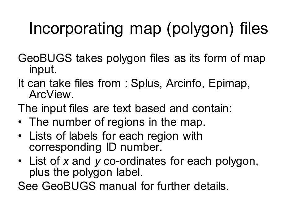 Incorporating map (polygon) files