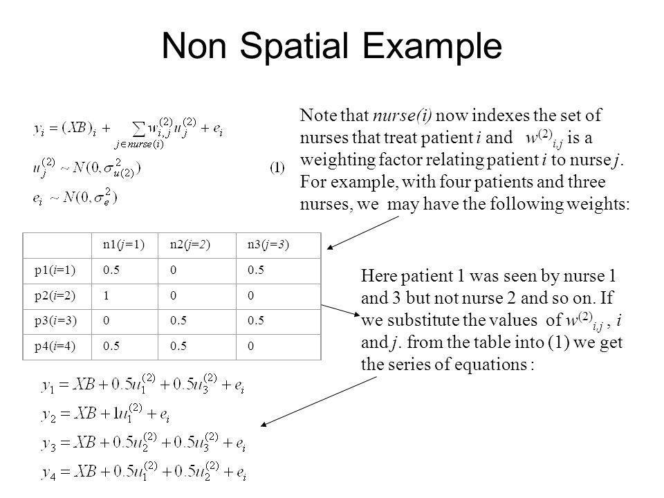 Non Spatial Example
