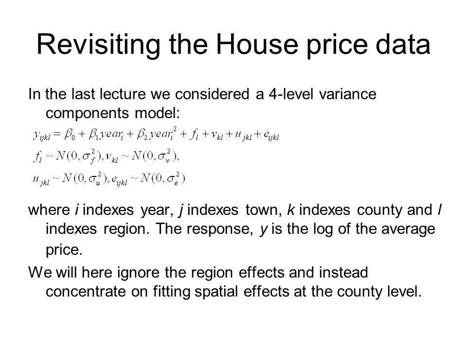 Revisiting the House price data