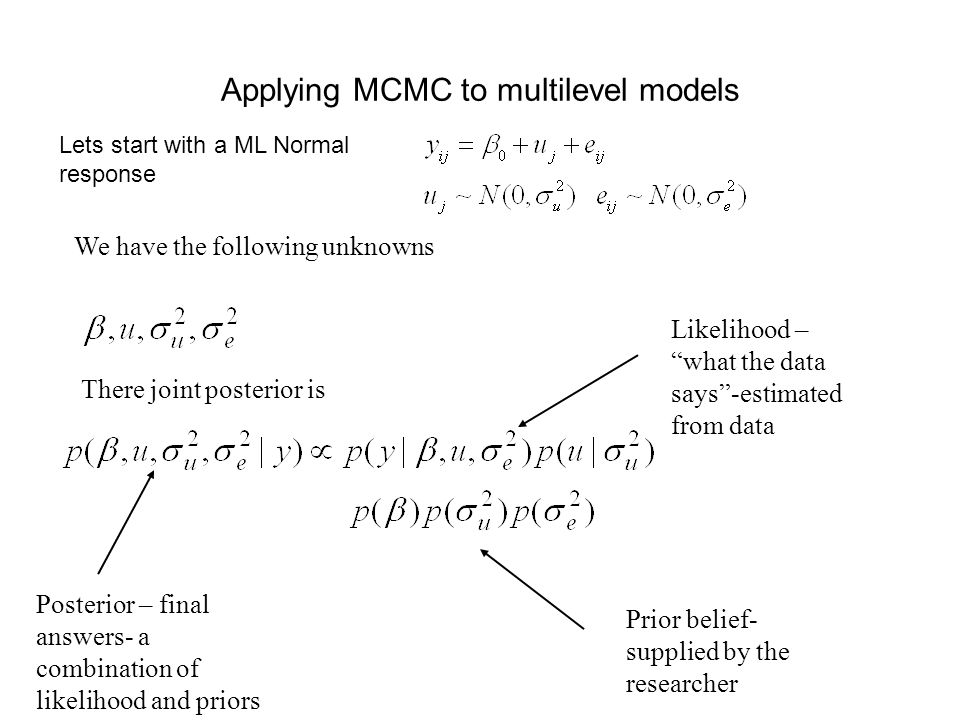 Applying MCMC to multilevel models