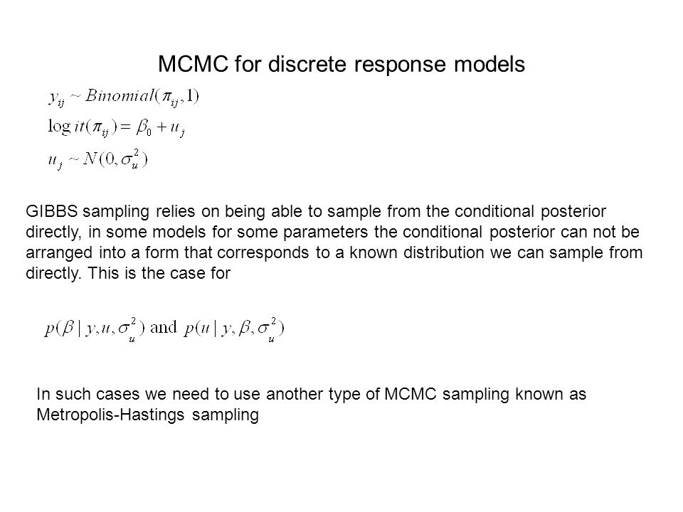MCMC for discrete response models