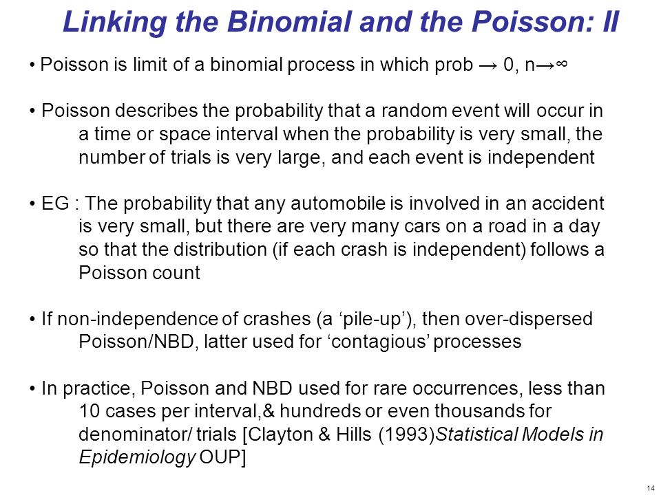Linking the Binomial and the Poisson: II