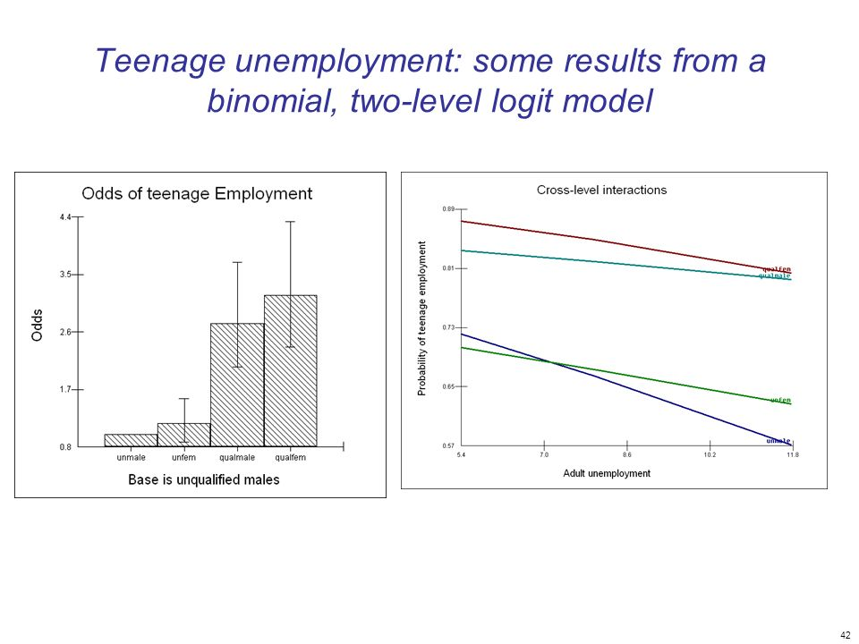 Teenage unemployment: some results from a binomial, two-level logit model