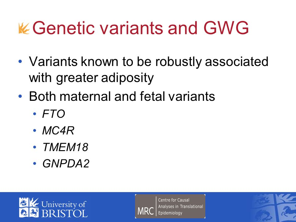 Genetic variants and GWG
