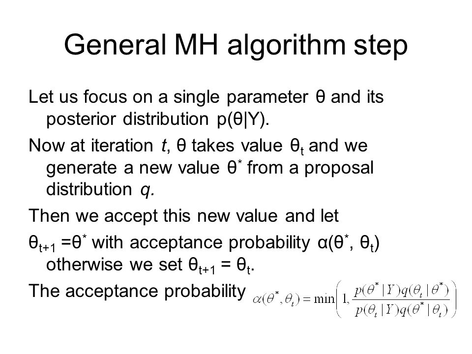 General MH algorithm step