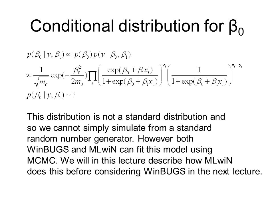 Conditional distribution for β0