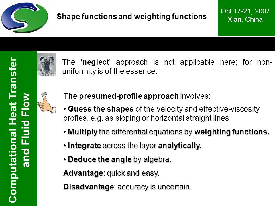 Shape functions and weighting functions