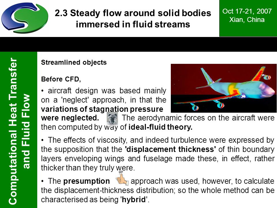 2.3 Steady flow around solid bodies immersed in fluid streams