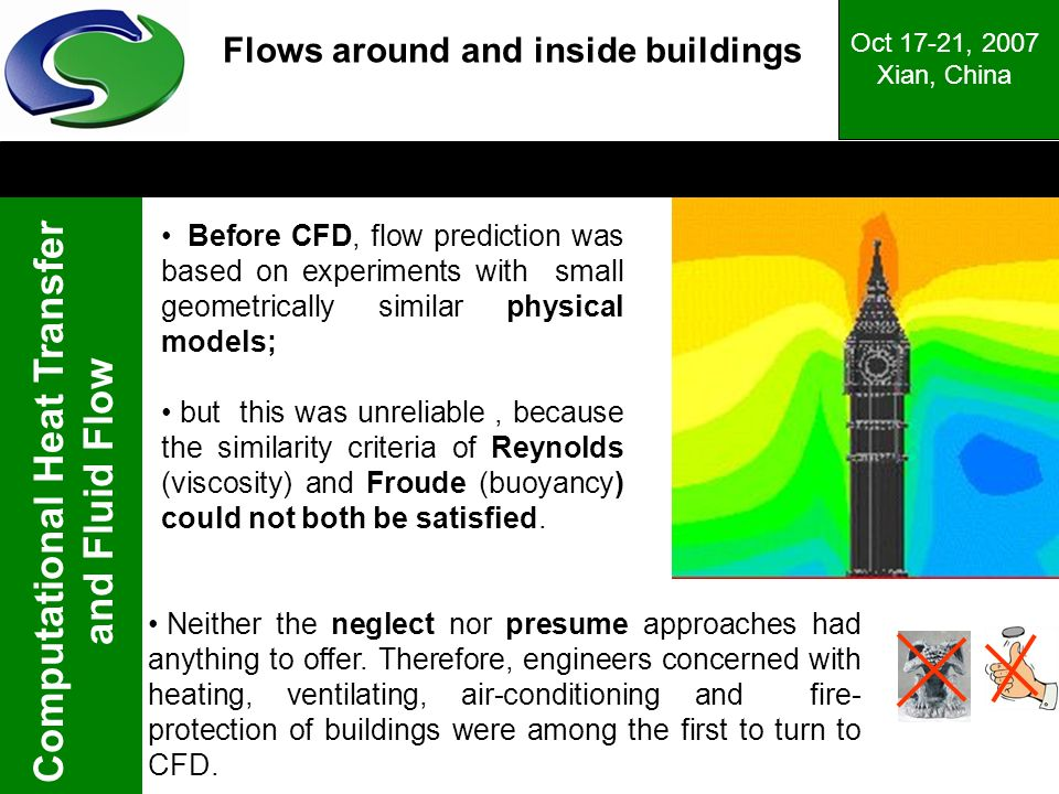 Flows around and inside buildings