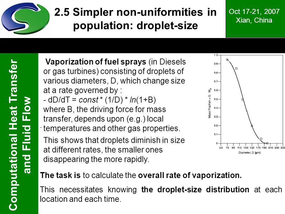 2.5 Simpler non-uniformities in population: droplet-size