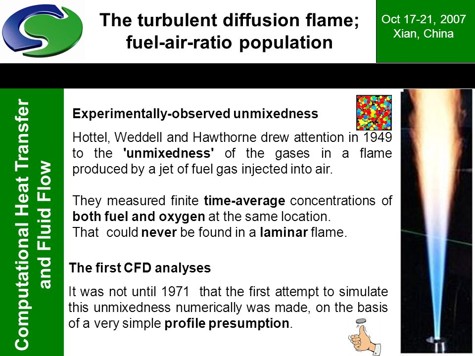 The turbulent diffusion flame; fuel-air-ratio population