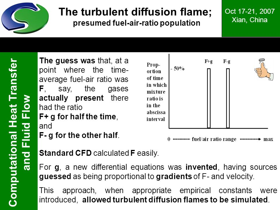The turbulent diffusion flame; presumed fuel-air-ratio population
