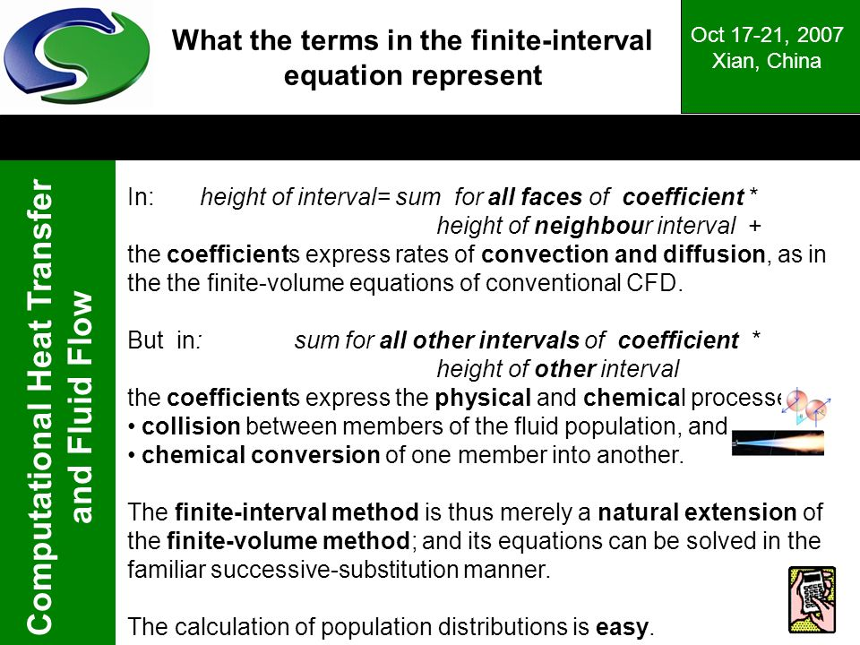 What the terms in the finite-interval equation represent