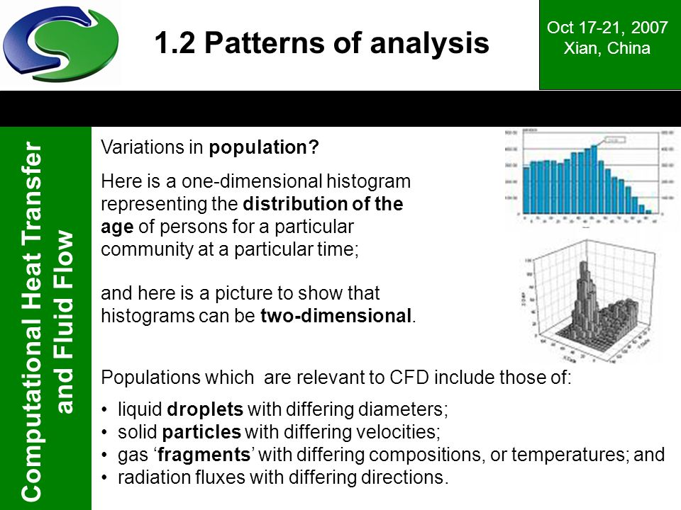 1.2 Patterns of analysis Variations in population