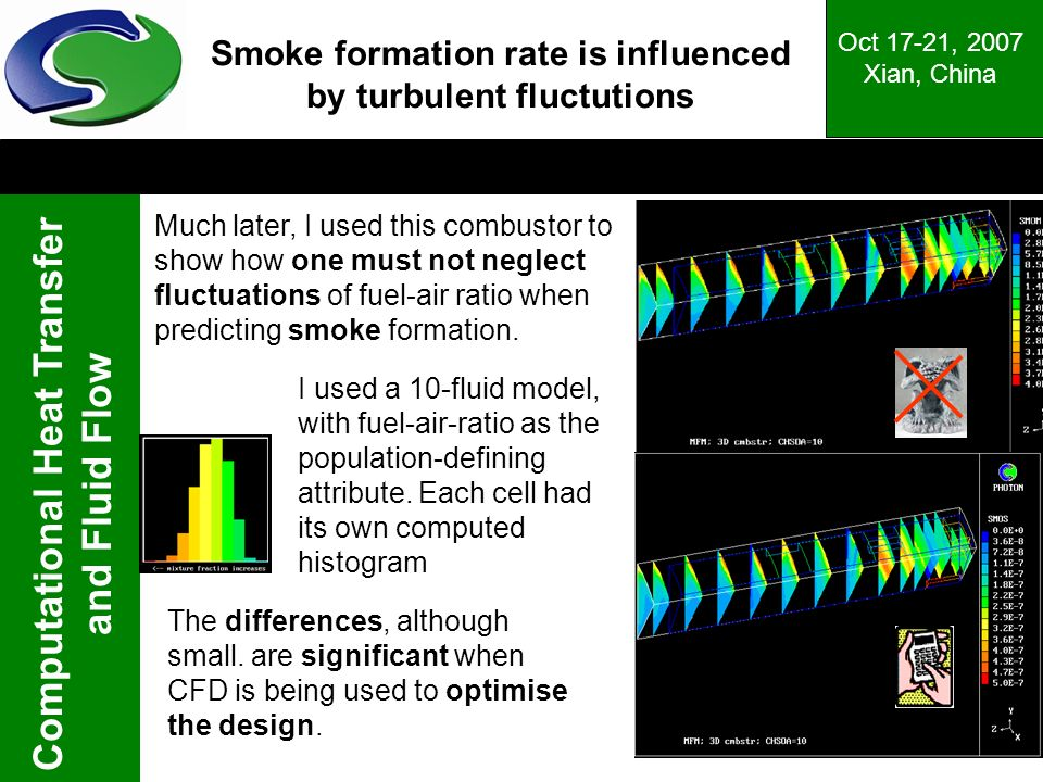 Smoke formation rate is influenced by turbulent fluctutions